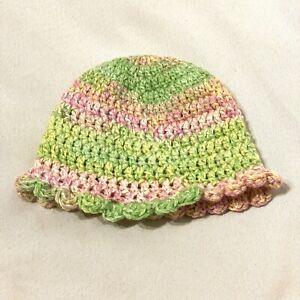 Borlai Set of 3 Newborn Infant Cotton Hats Adjustable Cute Beanie Caps for 0-6 Months
