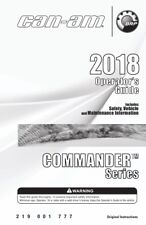 New listing Can-Am 2018 Commander Series Owners Maintenance Manual New Paperback