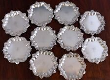 - (10) FRANK M. WHITING STERLING SILVER BUTTER PATS / ASHTRAYS / COASTERS. #1854