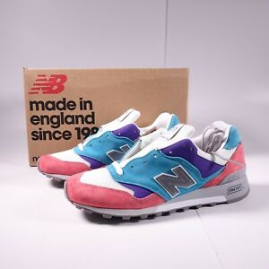 New Balance Men's 577 Sunrise Pack Sneakers M577GPT Pink/Teal/Purple Made in UK