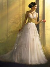 Alfred Angelo Disney's Snow White wedding dress gown style 256 ivory/gold sz 4