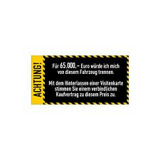Auto Anti-Visitenkarten-Aufkleber Gelb Sticker Fahrzeug Digitaldruck Decal