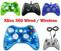 Wired / Wireless Game Controller Gamepad for Microsoft XBOX 360 & PC LED + Solid