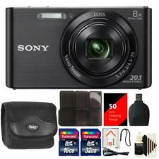 Sony DSC-W830 20.1MP Point and Shoot Digital Camera (Black) + 48GB Accessory Kit