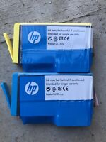 NEW (No Box) HP Genuine 564 Blue (1) Yellow (1) Ink Cartridge EXP. 07/16
