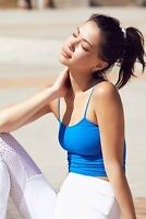 New Free People Movement Activewear Tighten Up Tank Workout Crop Top Cami $20