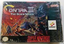 Contra III Super Nintendo Entertainment System SNES Complete In Box