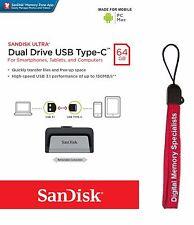 SanDisk 64GB Ultra Dual USB TYPE-C 64G USB 3.1 Pen Drive SDDDC2-064G + Lanyard