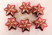 Weihnachtssterne rot bordeaux Christbaumkugeln glanz Sterne Weihnachtsschmuck