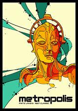 Metropolis FRIDGE MAGNETS 6x8 Fritz Lang Magnetic Science Fiction Movie Poster