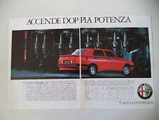 advertising Pubblicità 1987 ALFA ROMEO 75 TWIN SPARK 2.0