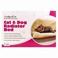 CAT RADIATOR BED WARM FLEECE BEDS BASKET CRADLE HAMMOCK ANIMAL PUPPY PET