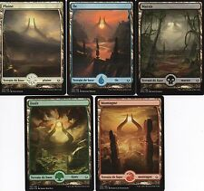 MTG Magic -  L'Âge de la Destruction - Lot 5 Terrains de Base Full Art -  VF