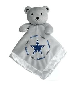 Dallas Cowboys Baby Security Bear Blanket, NFL Officially Licensed 14 X 14 Gray