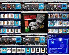 MINI SNES CONSOLE SUPER NINTENDO NES CLASSIC 1800 GIOCHI INCLUSI NUOVO 32 GB