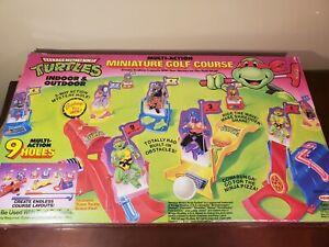 vintage teenage mutant ninja turtles Remco 1990 golf set *NOT Complete *