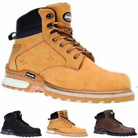 MENS LEATHER DICKIES CANTON WORK SAFETY SHOES BOOTS STEEL TOE CAP ANKLE TRAINERS