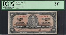 1937 Canada Bank Note $2 KGVI P59c  Coyne/Towers PCGS VF35 TMM*