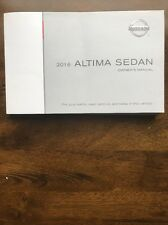 2016 Nissan Altima Sedan Owner Manual