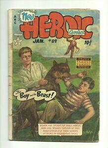 THREE VINTAGE COMIC LOT~ HEROIC COMICS #89 + LITTLE ARCHIE #61 + MADHOUSE #102!