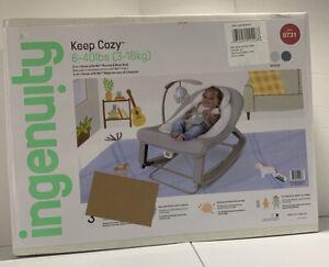 Ingenuity Keep Cozy #8731 Bounce & Rock Infant Seat Beige Baby