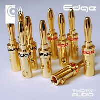 12 x Hi-Fi Banana PlugS (4mm Gold Plated Plug for Speaker Amplifier cable) BP1