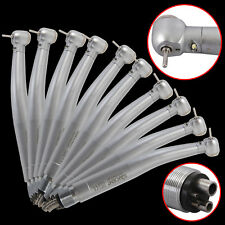 10Pcs 4Hole Dental Fiber Optic Handpiece LED E-generator High Speed YSDM