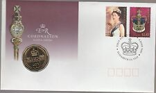 2003 - Coronation Golden Jubilee  -  Stamp and Coin Cover PNC .........  (ZPP)
