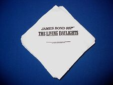 VINTAGE James Bond The Living Daylights Official 6 NAPKINS RARE Collectible 007