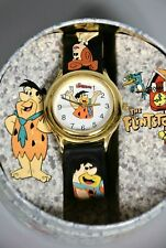More details for waltham novelty watch in collectors tin, the flintstones, hanna barbera
