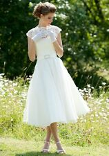 Wedding Dress, Designer Lyn Ashworth 'Daphne short' vintage style 100% silk