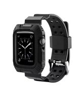 Rugged Protective Case w/ Watch Strap Band For Apple Watch Series 6 5 4 40/44mm