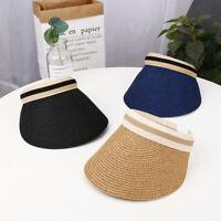 Beach Cap Straw Sun Hats Visor Caps Summer UV Protection Cap Empty Top Hat Gifts