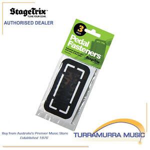 StageTrix Guitar Effect Pedal Industrial Strength Hook & Loop Fasteners - 3 Pack