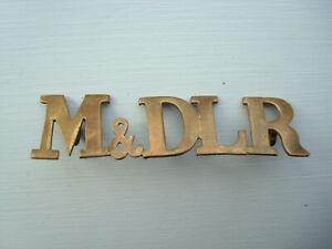 M & DLR MIDLAND & DISTRICT LIGHT RAILWAY CAP BADGE
