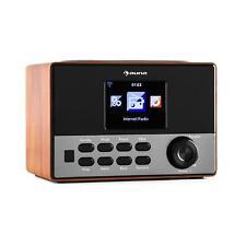 Radio numérique wifi portable fonction réveil USB écran TFT couleur Design Bois