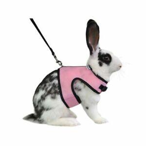 Niteangel Adjustable Soft Harness with Elastic Leash for Rabbits XL Pink