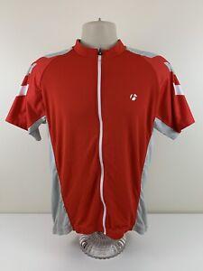Bontrager Red Cycling Jersey Mens Size XL Full Zip Short Sleeve Pockets EUC