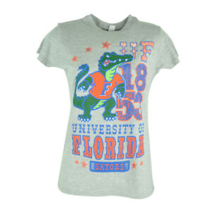 NCAA Florida Gators Cheerleader Distressed Womens Tshirt Shirt Ladies Tee