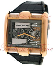 Harry Winston Tourbillon Glissiere Rose Gold Limited 25 Piece Skeleton 350-MATRL