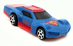 Hot Wheels Superman Car DC Comics McDonalds Happy Meal Toy Blue And Red