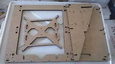 Prusa i3 mk2 mk3 reprap Laser Cut frame MDF 10mm rework piatto 4 cuscinetti