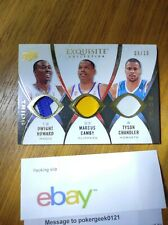 2008-09 Upper Deck Exquisite Trios triple patch Dwight Howard Camby Chandler /10