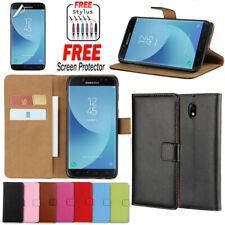 For Samsung Galaxy J2 Pro J5 J7 Pro Case Wallet Card Flip Genuine Leather Cover