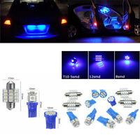 13 PCS Car Blue LED Lights Set Inteior Decor & Dome & Map & License Plate Lamp