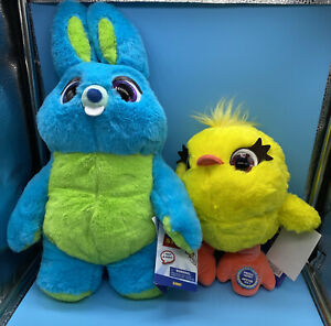 """DISNEY STORE EXCLUSIVE TOY STORY 4 TALKING BUNNY 17"""" & TALKING DUCKY SET NEW"""