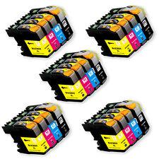 20 PK Printer Ink Set + Chip for Brother LC201 MFC-J460DW MFC-J480DW MFC-J485DW