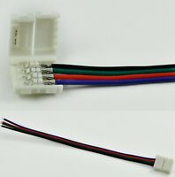 CABLE CONNECTOR TO CLIP STRIP LED RGB 5050 10mm 4 pin coil combine smd PCB