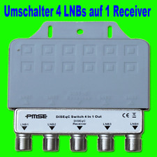 4x DiSEqC interruptor 4/1 switch 4 lnbs a 1 receptor digital conmutador FullHD TV