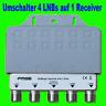 4X DiSEqC Schalter 4/1 Switch 4 LNBs auf 1 Receiver Digital Umschalter FullHD TV